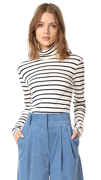 Veronica Beard Jean Audrey Turtleneck Top