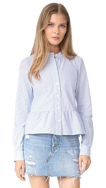 Veronica Beard Jean Charlotte Crew Neck Shirt