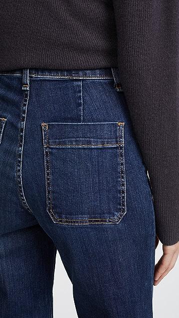 Veronica Beard Jean Ali Gaucho Jeans