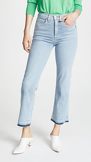 Veronica Beard Jean Jackie Jeans with Fraying