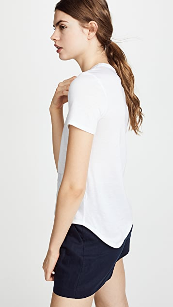 Veronica Beard Jean Lauren Crew Neck Tee