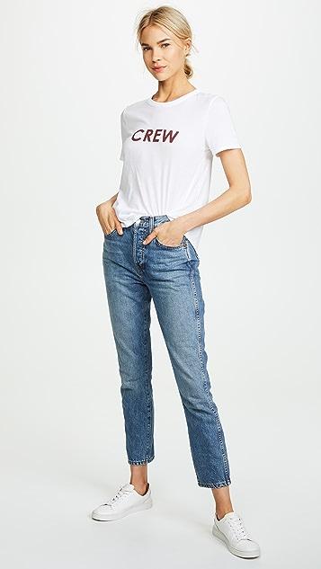 Veronica Beard Jean Crew Lauren Tee