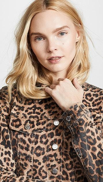 Veronica Beard Jean Cara Leopard Jean Jacket