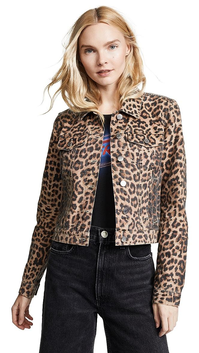 Cara Leopard Jean Jacket by Veronica Beard Jean