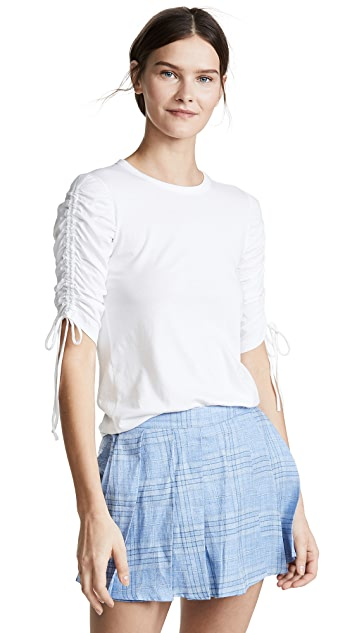 Veronica Beard Jean Natalia Ruched Sleeve Top