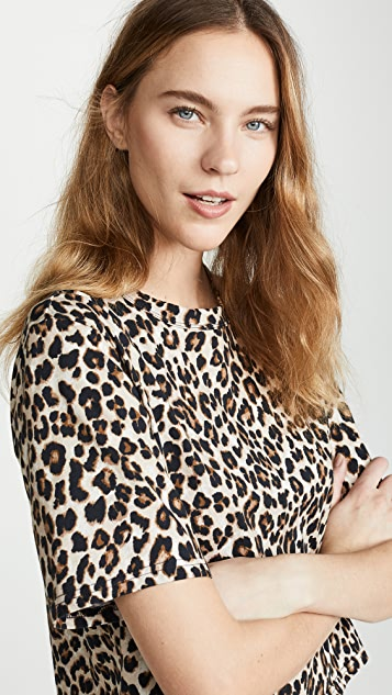 Veronica Beard Jean Abbey Tee - Leopard