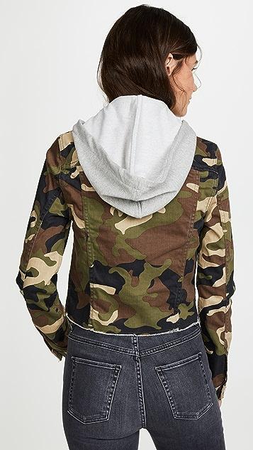 Veronica Beard Jean Cara Jean Jacket with Removable Hoodie