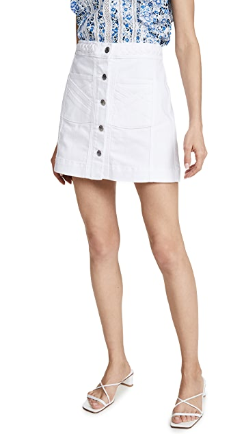 Veronica Beard Jean Aron Braided Miniskirt