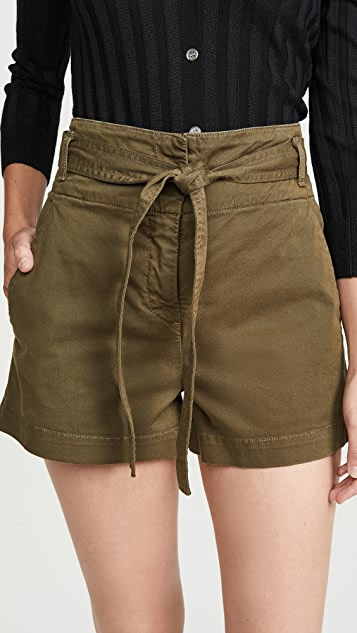 East Tie Waist Shorts by Veronica Beard Jean