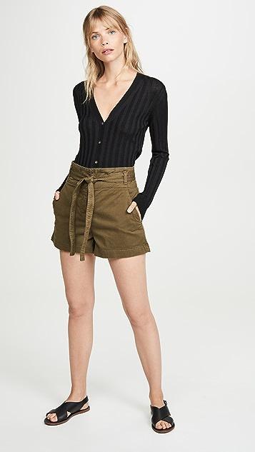 Veronica Beard Jean East Tie Waist Shorts