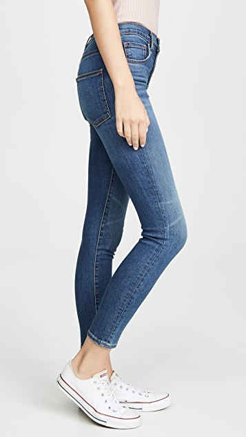 Veronica Beard Jean Debbie High Rise Skinny Long Jeans