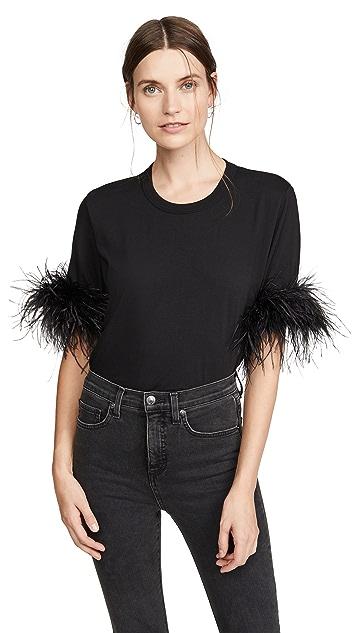 Veronica Beard Jean Wanda 羽毛元素 T 恤