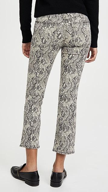 Джинсы Veronica Beard Расклешенные брюки Carolyn Kick с высокой посадкой