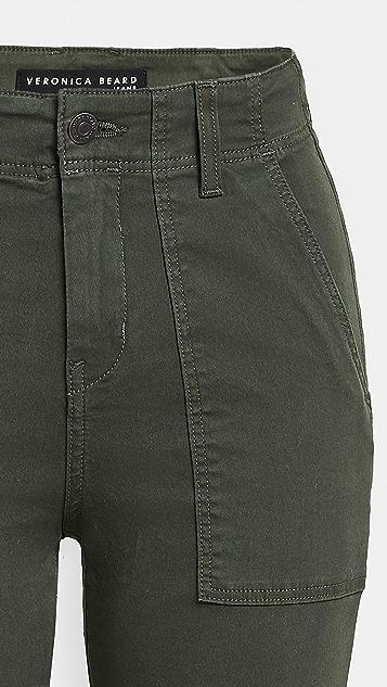 Veronica Beard Jean Lynne Mid Rise Cargo Pants