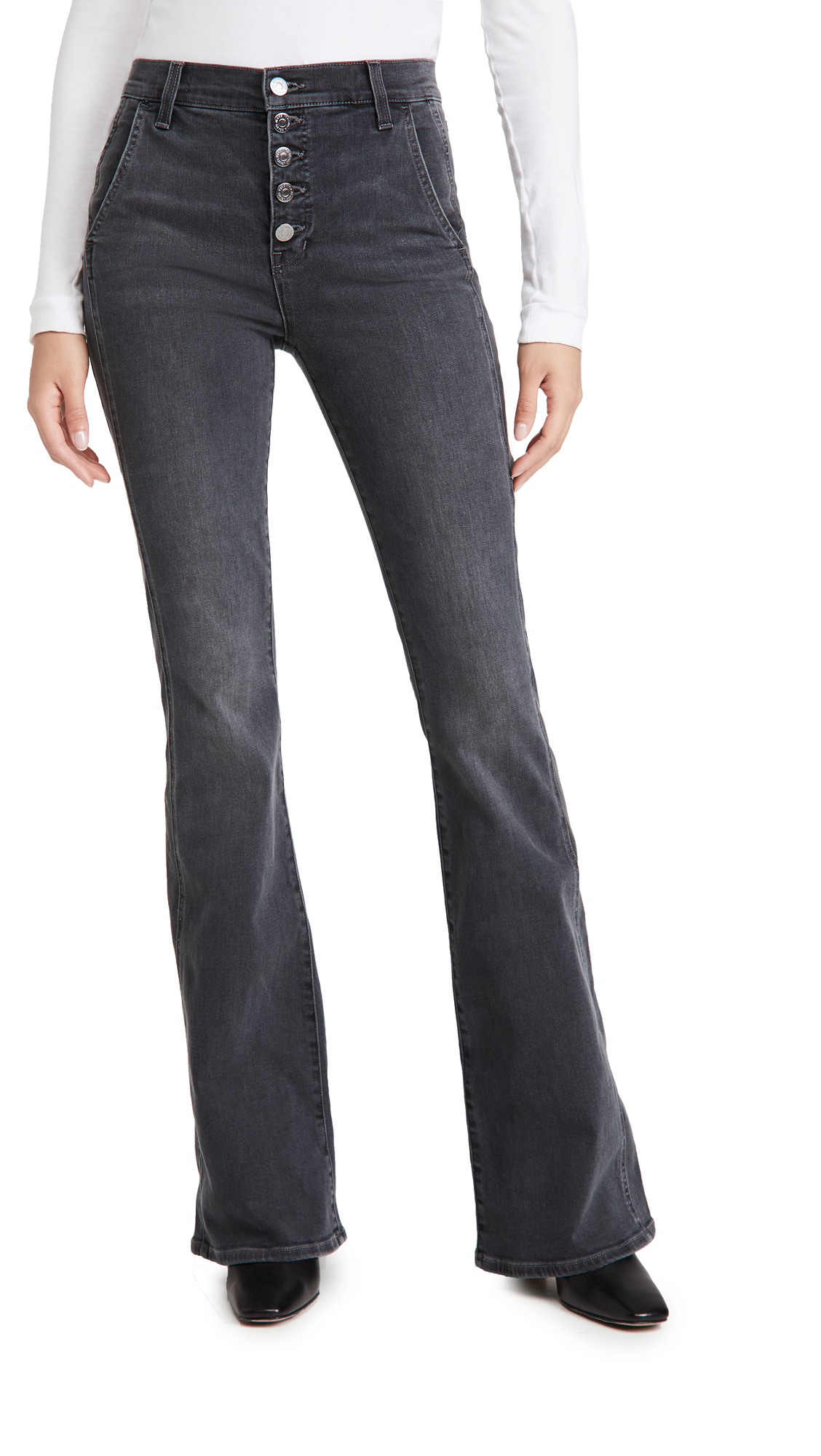 Veronica Beard Jean Beverly High Rise Skinny Flare Jeans