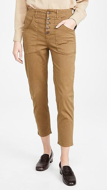 Veronica Beard Jean Arya Cargo Straight Pants