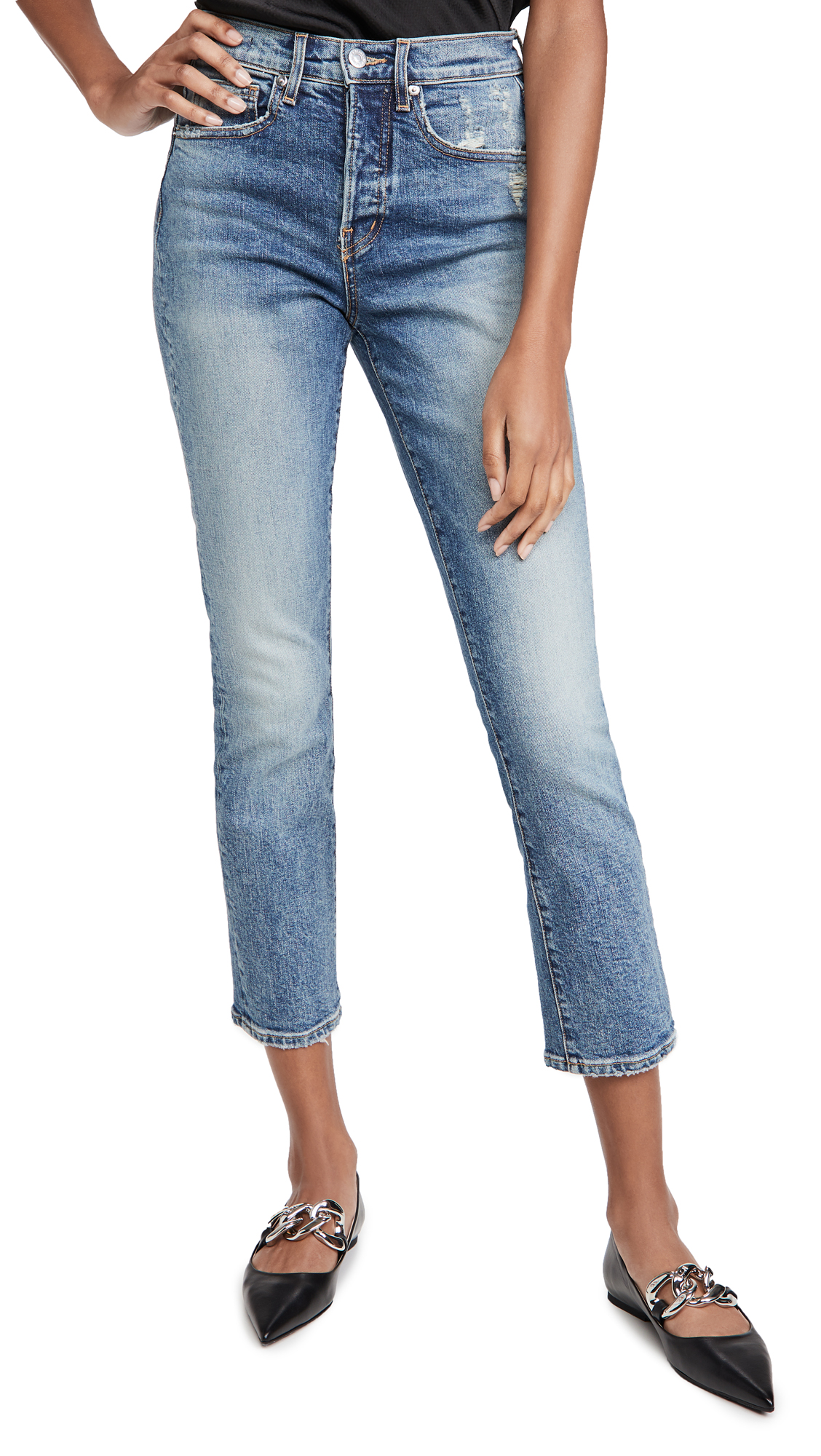 Veronica Beard Jean Ryleigh Straight Leg Jeans