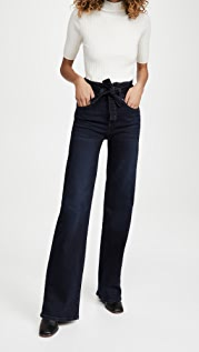 Veronica Beard Jean Rosanna High Rise Tie Waist Jeans