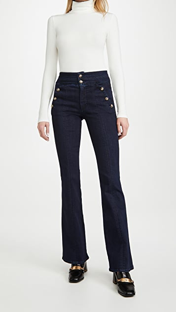 Veronica Beard Jean Beverly Jeans with Side Buttons