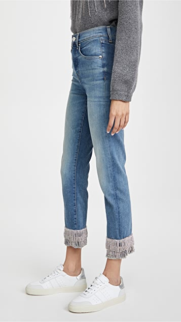 Veronica Beard Jean Ryleigh Pants with Fringe Rhinestone