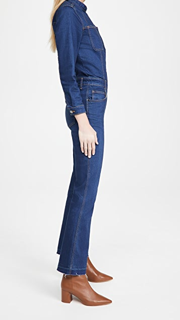 Veronica Beard Jean Rochelle Front Zip Jumpsuit