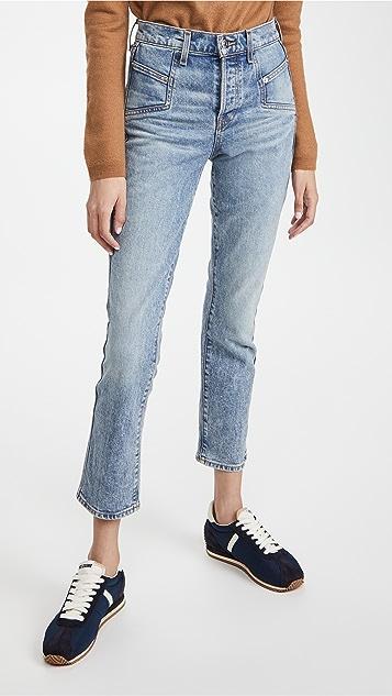 Veronica Beard Jean Ryleigh Slim Straight Jeans