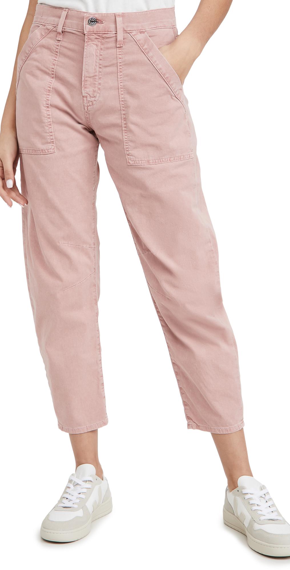 Veronica Beard Jean Charlie Barrel Pants with Patch Pockets