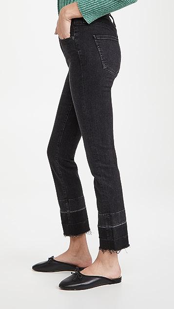 Veronica Beard Jean Ryleigh Slim Straight Deep Hem Jeans