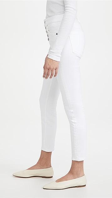 Veronica Beard Jean Debbie 高腰紧身九分牛仔裤