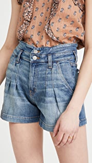 Veronica Beard Jean Jaylen Notch Shorts