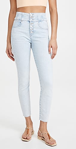 Veronica Beard Jean - Katherine Corset Jeans with Raw Hem