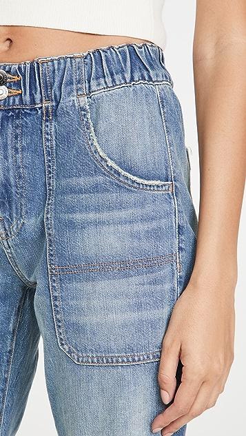 Veronica Beard Jean Arya Jeans with Elastic Waist