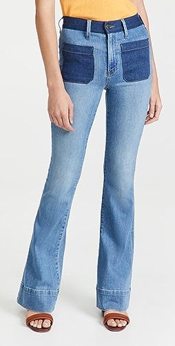 Veronica Beard Jean - Florence Flare Colorblock Jeans