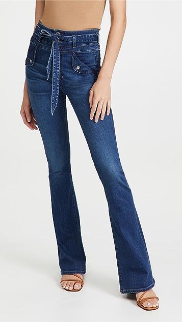 Veronica Beard Jean Giselle High Rise Skinny Flare Jeans