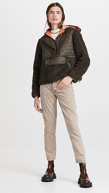 Veronica Beard 牛仔裤 Leo 羊羔绒绗缝套头衫