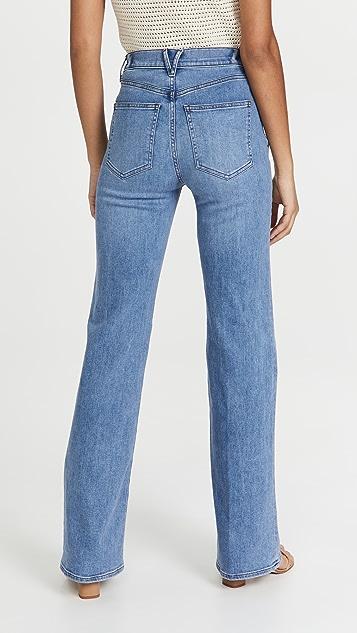 Veronica Beard Jean Crosbie Wide Leg Jeans