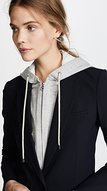 Veronica Beard Classic Jacket with Hoodie Dickey