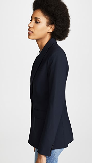 Veronica Beard Classic Wool Jacket with Upstate Dickey