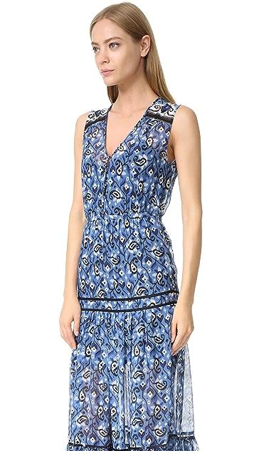 Veronica Beard Tecater Tiered Maxi Dress
