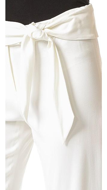 Veronica Beard Imperial Cropped Tie Waist Pants