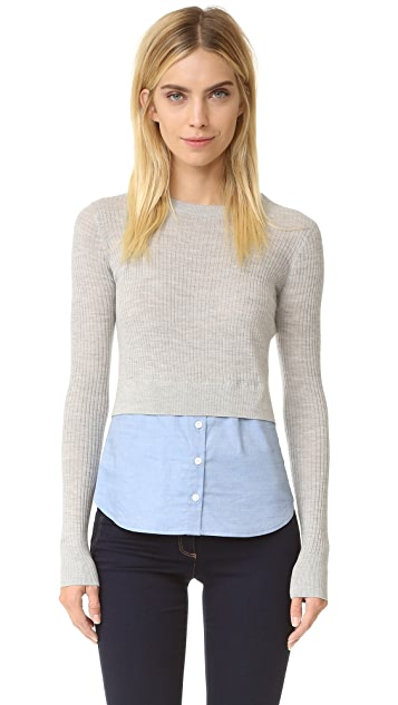 Veronica Beard Cati Combo Sweater
