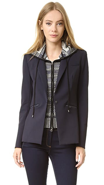 Veronica Beard Scuba Jacket with Rodeo Hoodie Dickey