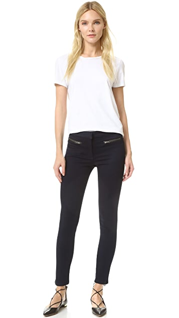 Veronica Beard Skinny Zip Cropped Jeans
