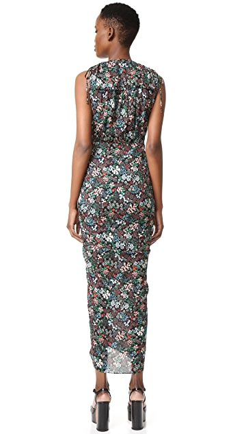 Veronica Beard Teagan Ruched Side Dress