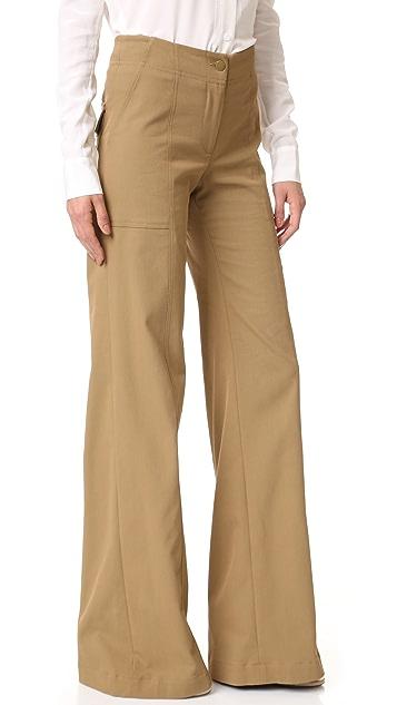 Veronica Beard Wanderlust Wide Leg Utility Pants