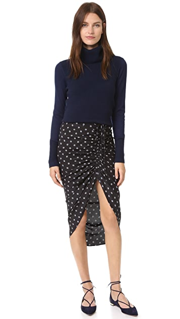 Veronica Beard Ari Ruched Drawstring Skirt