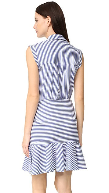 Veronica Beard Ruched Shirtdress