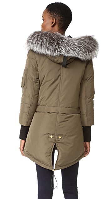 Veronica Beard East End Parka Puffer Coat