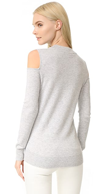 Veronica Beard Central Cold Shoulder Cashmere Sweater