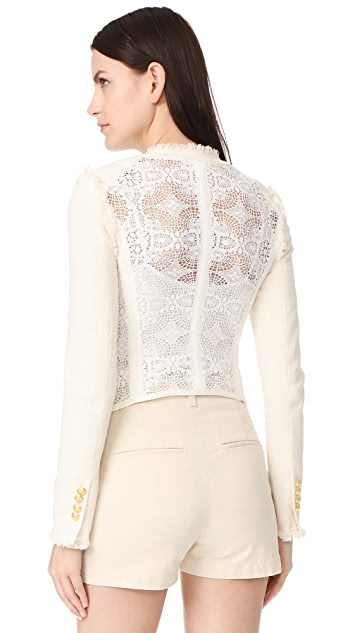 Veronica Beard Betsy Lace Tweed Jacket